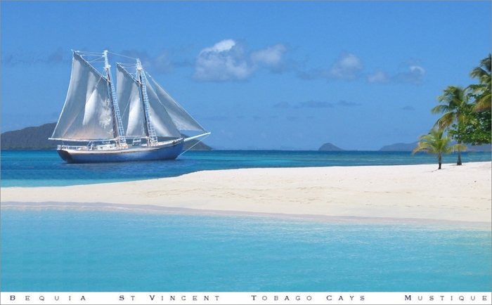 Friendship Rose at Anchor Tobago Cays Marine Park